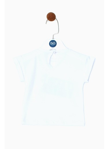 BG Baby Kız Bebek Beyaz T-Shirt 19SS0BG2529 Beyaz